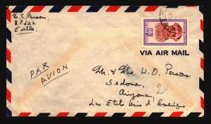 Belgian Congo 1952 Airmail Cover to USA - Z18143
