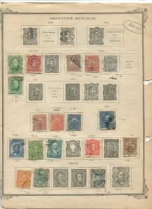 STAMP STATION PERTH Argenti # Various Selection of 52 Stamps Mint /Used 1877-91