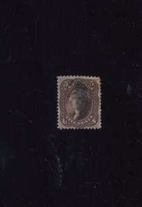 US Stamp #76   Five cent Jefferson  (Repaired filler)⭐⭐⭐⭐⭐