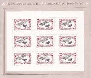 US Stamp - 1998 Trans-Mississippi - 9 Stamp Sheet -   #3210