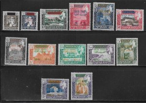 South Arabia Seiyun Michel 55-67 MNH c.v. 40 Euro