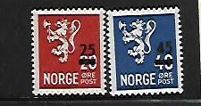 NORWAY, 302-303, MNH,LION RAMPANT