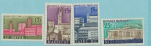 France Scott #874 To 877, Mint Never Hinged MNH, French Architectural Designs...