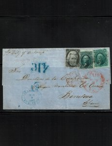 Scott #68 x (2) and 73 x (2) F/VF used on cover.