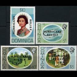 DOMINICA 1979 - Scott# 640A-3A Sanders Opt. Set of 4 NH