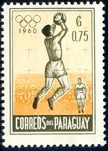 Soccer, Goatkeeper, Olympic Games 1960, Paraguay SC#558 mint