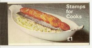 GB £1 Stamps for Cooks - Prestige Booklet