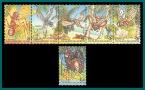 Cocos 1995 Insects, MNH #302-303,SG326-SG331