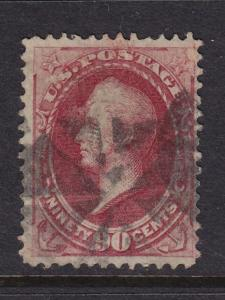 155 F-VF used neat cancel with nice color cv $ 325 ! see pic !