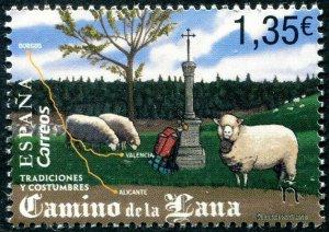 HERRICKSTAMP NEW ISSUES SPAIN Sc.# 4292 Traditions & Customs Wool Road (Sheep)