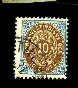 Danish W Indies #20 used Fine Cat $150