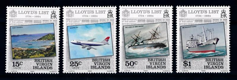 [71271] British Virgin Islands 1984 Lloyd List Aircraft Ships  MNH
