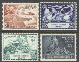 Solomon Islands Sc# 84-87 MH 1949 UPU Issue
