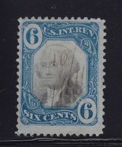 R108 F-VF used revenue neat cancel with nice color cv $ 250 ! see pic !