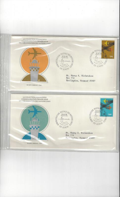 United Nations Geneva FDC ICAO:Safety in the Air 1978 UNPA Official Cover