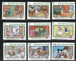 Turks & Caicos Scott 540-58 MNH**1982 Christmas Disney set