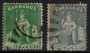 Barbados #50-1  CV $3.25