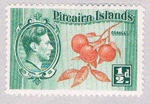 Pitcairn Islands 1 MLH Oranges 1940 (BP52026)