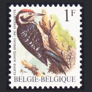 Belgium Lesser Spotted Woodpecker Bird 1v 1Fr Phosphor Paper SG#2845 MI#2401y