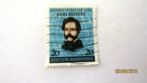 Germany #691 Used/Fine, 20pf, Carl Schurz, 1952