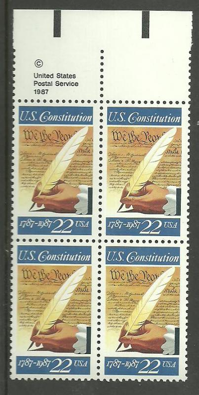 #2360 US Constitution Copy Block Mint NH