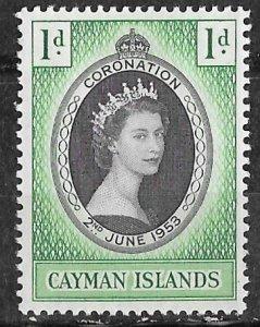 Cayman Is. # 150  QE II Coronation 1953     (1)    Mint NH