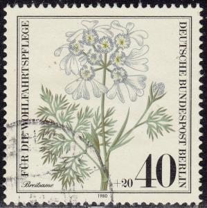 Germany Berlin - 1980 - Scott #9NB171 - used - Flower