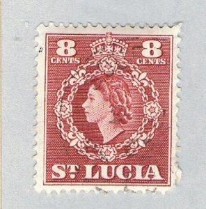 St Lucia 163 Used QEII 1953 (BP59319)