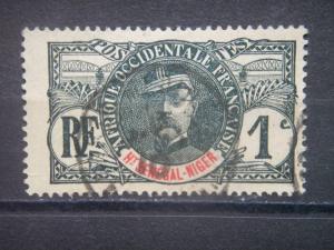UPPER SENEGAL AND NIGER, 1906, used 1c, Scott 1