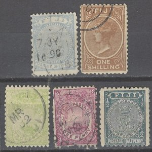 COLLECTION LOT # 2369 FIJI 5 STAMPS 1868+  CV+$23