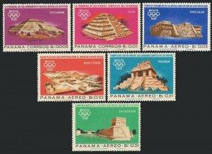 Panama 477-477E,477F,MNH.Michel 974-979,Bl.68. Olympics Mexico-1968.Indian ruins