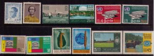 Ceylon 1964/1966 MH Scott 390-404 Mint Hinged with 5 complete sets xtra fine l