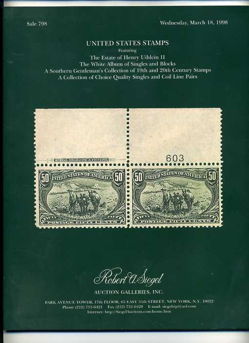 Siegel Estate Sale of Early US Stamps