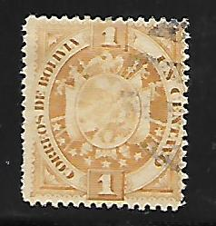 BOLIVIA 40 USED COAT OF ARMS 1894