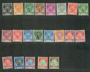 Malaya Pahang Sc#50-70 M/H/VF, Cv. $104.45