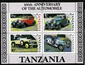 Tanzania-Sc#266a-unused NH sheet-Cars-Rolls-Royce-1985-