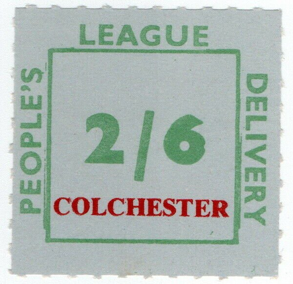 (I.B) Cinderella Collection : People's League 2/6d (Colchester)
