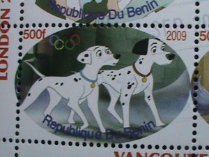 BENIN STAMP-2009- OLYMPIC VANCOUVER'2010-101 SPORTY DOGS CTO STAMP S/S #2