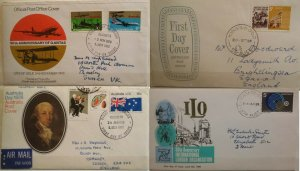 Australia 1969 Labour Organization & Northern Territory 1978 1970 Qantas Day FDC