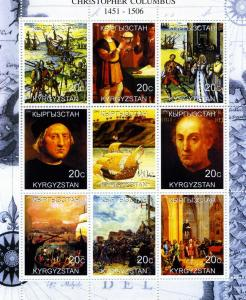Kyrgyzstan 2000 Christopher Columbus SHIPS Sheet Perforated Mint (NH)