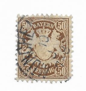 Bavaria #45 Faults Used - Stamp - CAT VALUE $27.50