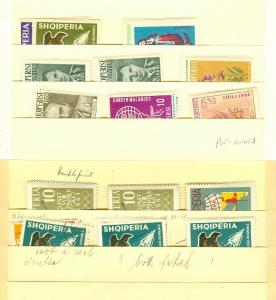 EDW1949SELL : ALBANIA Neat collection of ALL Cplt sets, mostly Mint. Sc Cat $208