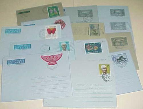 SIERRA LEONE 13 DIFF. AIR LETTERS  FROM 1950