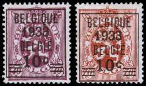 Belgium Scott 254-255 (1933) Mint H VF, CV $33.50
