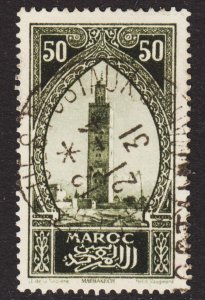 French Morocco Scott 105 VF used with a splendid SON cds.