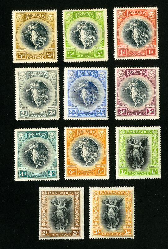 Barbados Stamps # 140-150 VF OG H Set of 11 Scott Value $157.00