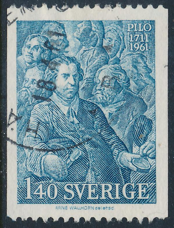 Sweden Scott 595 (Fa 523), 1.40Kr blue C.G.Pilo, F-VF Used