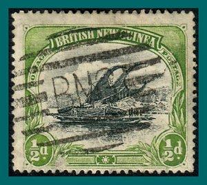 Papua 1901 Lakatoi, vert wmk, 0.5d used  #1,SG9