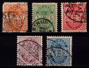 Denmark 1882-1902 Christian IX Definitives, Part Set to 20o [Used]