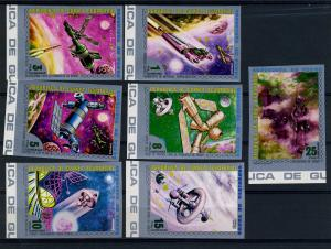 Equatorial Guinea 1973 SPACE OF VENUS set of 7 values Imperforated Mint (NH)
